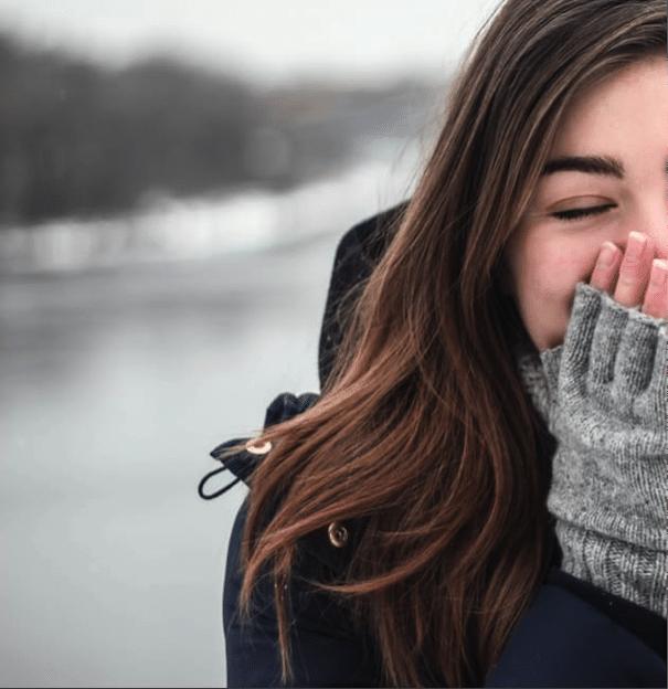 Moisturize dry winter skin