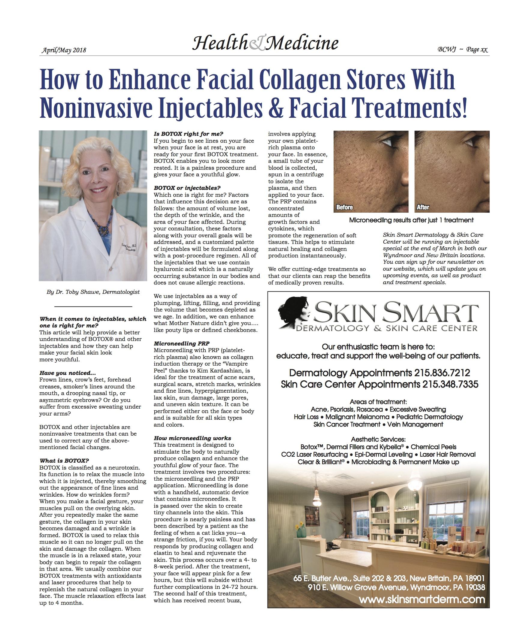 enhance facial collagen